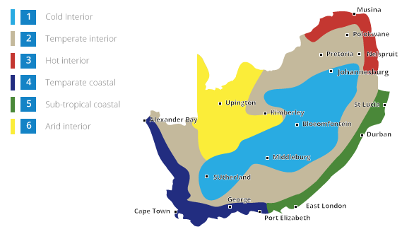 Map Of Africa Climate Zones.Regulations Isoboard Thermal Insulation South Africa
